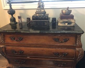 Marble top chest of drawers