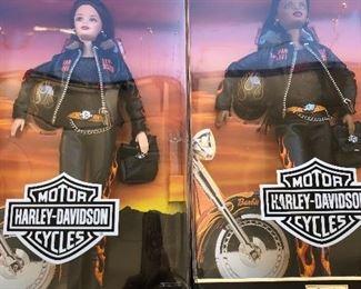 Collectible Harley Davidson barbies