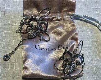 Vintage Christian Dior chandelier earrings