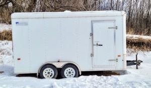2011 Ameri Pro Enclosed Trailer.  VIN: 5NHUHA425BW059831  Plate: 4115CPT  GWV: 010000  Very nice enclosed trailer that has been parked since 2017. The tires look to be in good condition, but since this trailer has not been moved, there is not a 100% certainty that they wont need air/repair. The interior is in great shape and includes the shelving, but not the items on the shelves. The tires pictured are included, however unknown if they belong with this trailer. Tabs/Registration is not up to date. Interior bed measures 7' x 14'.  VIN: 5NHUHA425BW059831