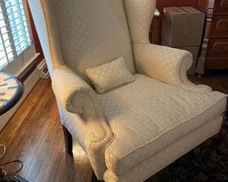 """Lot 2: $175- Wing chair 44""""H"""
