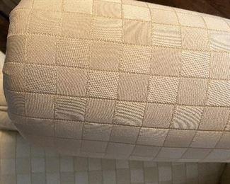 Detail of upholstery on Henredon chair