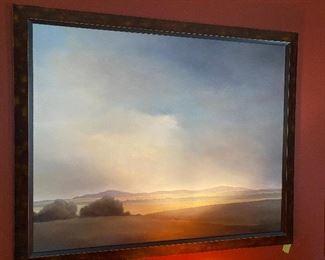 "Lot 29: $450- Ilse Gottwald painting - 35-1/2"" x 43-1/2"" framed"
