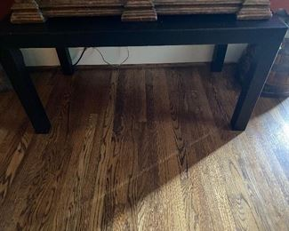 Lot 24: $35- Small black resin table