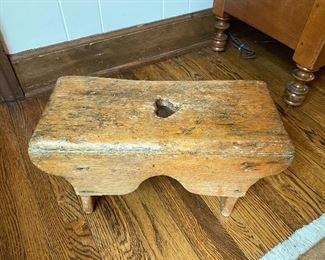 """Lot 25: $45- Small stool 16""""L x 7""""W x 8""""H"""