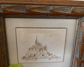 """Lot 38: $25- Mont Saint-Michel approx. 4"""" image"""