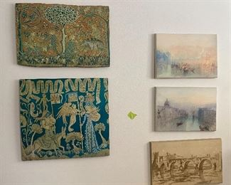 Assorted artworks for sale at time of pick up