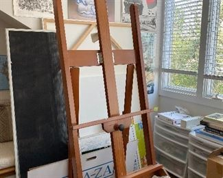 Lot 28: $175- Large easel.  8' tall