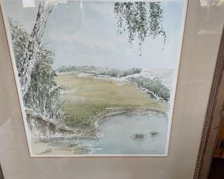 Lot 44: $45- Watercolor of cove