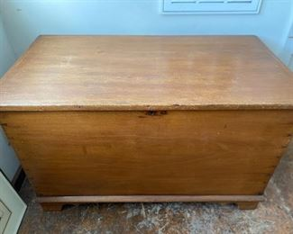 """Lot 15: $450- Blanket chest-dovetailed sides. 38""""W x 20-1/2""""D x 23""""H"""