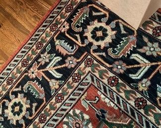 Detail of dining room rug