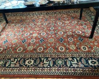 "Lot 59: $750- Dining room rug-wool 8'11"" x 12'"