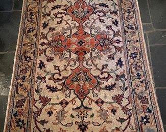 Lot 61: $125- Foyer rug-approx. 2' x 4'
