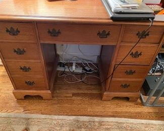 Lot 8: $175- Mahogany desk
