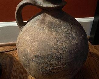 """Lot 87: $150- Antique ceramic wine jug 14""""H x 9""""Diameter"""
