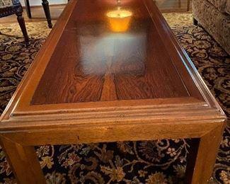 """Lot 20: $175- Wood coffee table 53""""L x 23-1/2""""W x 15-1/2""""H"""
