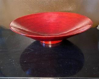 """Lot 93: $15-Vietnamese spun bamboo bowl 17-1/2""""W x 5""""H"""