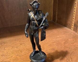 "Lot 101: $65- Bronze Mercury statue 7""H"
