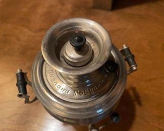 """Lot 103: $12- Tiny samovar 5""""H x 3-3/4""""W"""