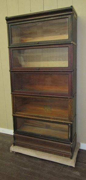 Oak 5 Stack Lawyers Bookcase
