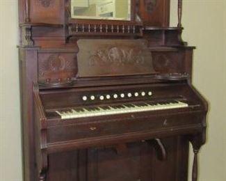 1800's Walnut Pump Organ