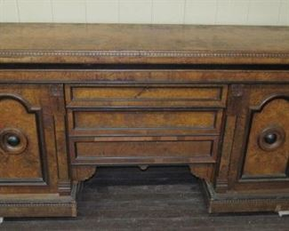 """78"""" Long Victorian Sideboard - 2 Doors w/3 Drawers in Center"""