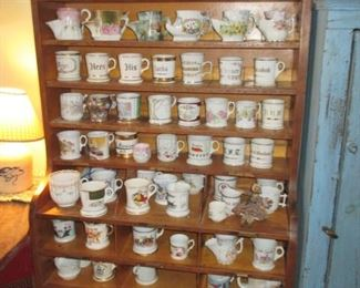 Huge Collection Of Shaving Mugs ~ So Many Fabulous Antique Cabinets To Choose From