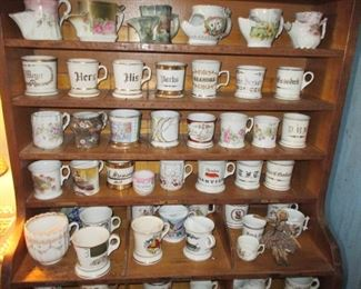 Huge Collection Of Shaving Mugs ~