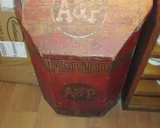 Rare A & P Wood Vintage Coffee Chest