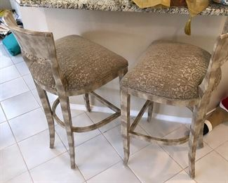 Neutral and Classic Pair of Barstools