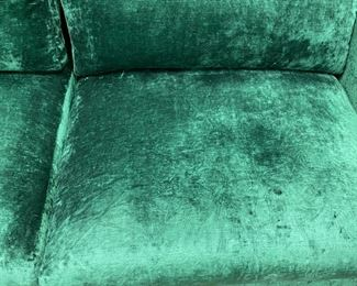 "A. Rudin  sofa in Mokum Bespoke - Emerald                     28""h x 108""w x 31""d     never used   Was: $3,200.00   Now: $2,400.00                                        (Originally $11,000.00"