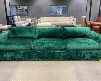 "A. Rudin  sofa in Mokum Bespoke - Emerald                     28""h x 108""w x 31""d     Never Used   Was: $3,200.00    Now: $2,400.00                                        (Originally$11,000.00"