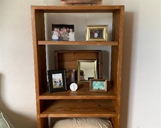 Oak book shelf $100