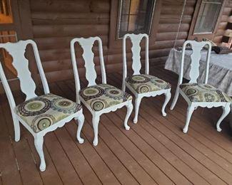 Modern dining chairs,  shabby white Finnish