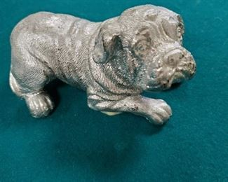 Dog made from aluminum foil
