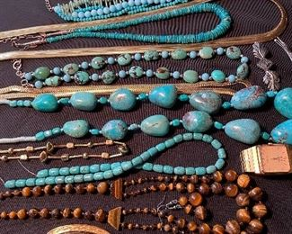 Costume jewelry & turquoise beads