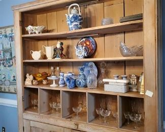 Large Antique Cabinet, Glass doors were removed but will be sold with cabinet