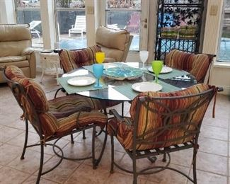 Another view of the patio table