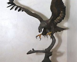 Chester Fields 5 foot bronze eagle
