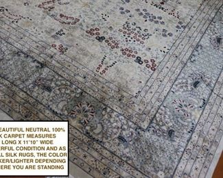 10 x 17 Silk Rug Carpet,