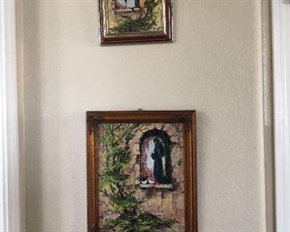 2 small wall art paintings