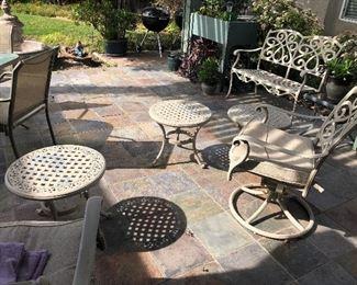 Outside white wrought iron patio furniture