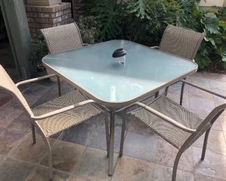 Outside patio table with 4 chairs