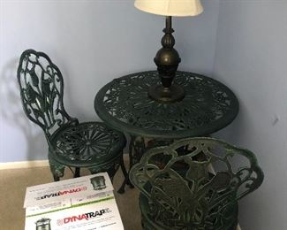 Indoor Wrought Iron table with 2 chairs