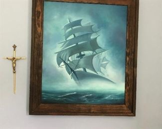 Painting of Ship (wall art)