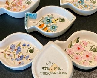 Handpainted Mexican Fish Sauce Dish Set: $40