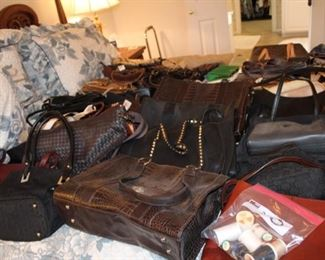 40 to 50 purses including Kate Spade and Coach