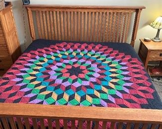 The Quilt is not for Sale on king size bed