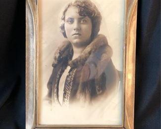 Art Nouveau Frame with circa 1900 Photograph