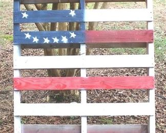 40 - Flag Painted Wood Pallet